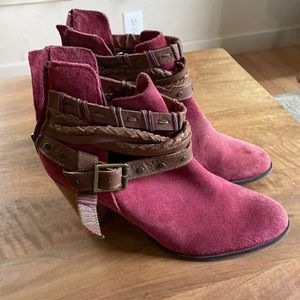 Naughty Monkey suede heeled ankle boots booties